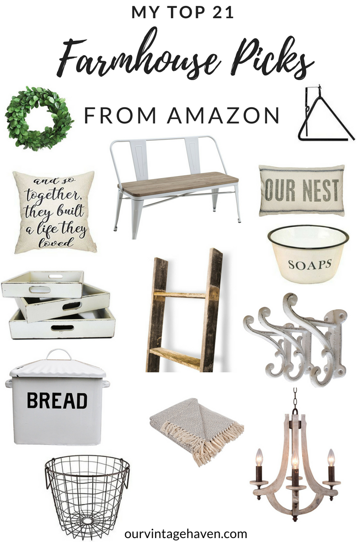 MY TOP 21 FARMHOUSE PICKS FROM AMAZON